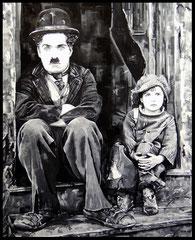 """"""" THE KID """"   acrylique sur toile de lin    81 x 100 cm"""
