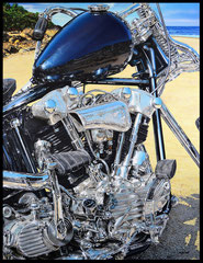 """"""" KNUCK BEACH """"   acrylique sur toile de lin  89 x 116 cm"""