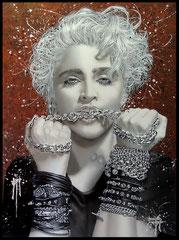 """"""" LA MADONE """"      acrylique sur toile   75 x 100 cm"""