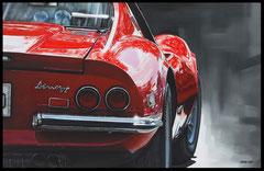 """ FERRARI DINO "" Acrylic Painting on Canvas  65 x 100 cm"