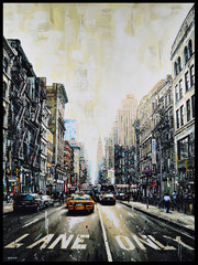 """ LANE ONLY ""  Acrylic Painting on Canvas  73 x 100 cm"