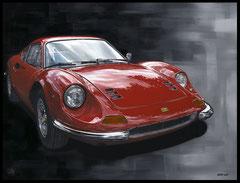 """ DINO "" Acrylic Painting on Canvas   75 x 100 cm"