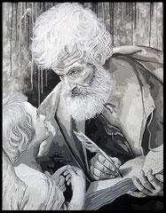 """"""" ST MATHIEU """"    acrylique sur toile de lin    114 x 146 cm"""