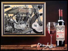 """"""" 110 ANS HD """" acrylique sur toile de lin  89 x 116 cm"""