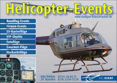HELIEVENT Hubschrauberflüge Flyer