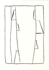 Nordseetagebuch # 10, 2016, 29,7 x 21 cm, Chinatusche, Graphit auf Papier