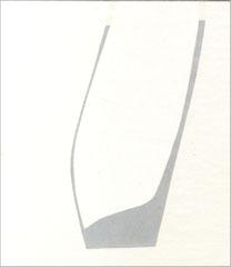 serie bianca #9, 2010, Graphit, Druckfarbe auf Karton