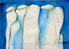 ~Waters Edge~のためのドローイング (月の水辺) W297×D210㎜