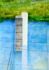 ~Waters Edge~のためのドローイング (屹立する水際) W210×D297㎜