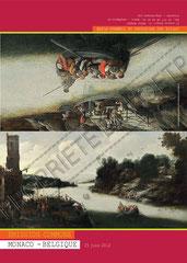 Encart pour 2 timbres à l'occasion d'émission commune avec la Belgique, verso