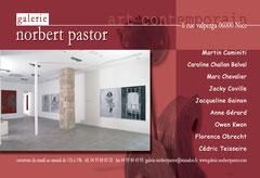 encart publicitaire de la galerie Norbert Pastor Nice dans le guide de Côte magazine