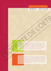 Encart pour 2 timbres à l'occasion d'émission commune avec la Belgique, recto