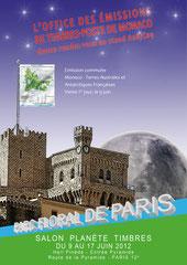 Annonce de la présence de l'Office des Timbres au salon Planète Timbres, Parc Floral de Paris, 2012