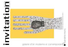 carton d'invitation pour une exposition, verso, 100 x 150. 2007