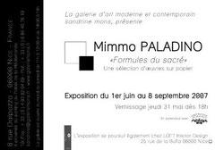 carton d'invitation pour une exposition, recto, 100 x 150. 2007