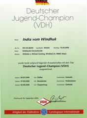Jugendchampion VDH