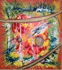 "2013-06, ""Cosmic chaos"", 70 cm x 70 cm"