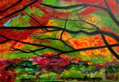 """2015-163, """"Farewell autumn"""", 100 cm x 70 cm"""