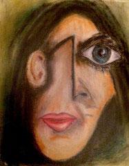 """2017-038, """"no selfie - pas de Picasso"""", 40 cm x 50 cm"""