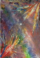 "2015-01, ""2015´s first fireworks"", 40 cm x 30 cm"