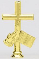 """TF605 - 5-1/4"""" Cross Religious Figure"""
