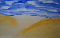 """""""Einsamer Strand""""     Aquarellpapier      40 cm / 29,5 cm ..."""