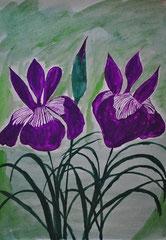 """""""Zwei Lilien"""" Aquarellpapier  29,5 cm / 40 cm           ..."""