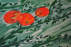""" Rote Äpfel""     Aquarellpapier      29,5 cm / 40 cm            ..."