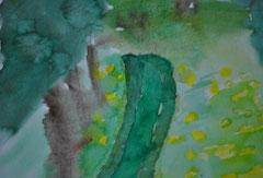 """"""" Grüner Weg """"       Aquarellpapier        21 cm / 19 cm     ...."""