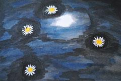 """Schwimmende Gänseblümchen ""    Aquarellpapier  29,5 cm / 40 cm..."