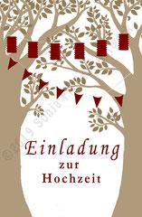 Hochzeitskarten-Design nach Wünschen des Brautpaares, Digitale Arbeit