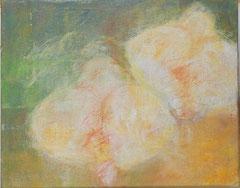 Orchidee, 2000 _____ 40x50 Acryl, Sand, Papier auf Leinwand