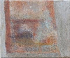 Refugium 2, 2006 _____ 25x30 Acryl, Sand, Papier auf Baumwolle