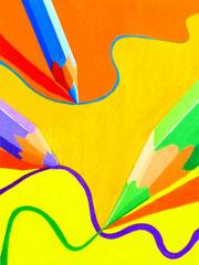 色彩構成(鉛筆)