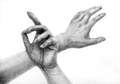 手の構成デッサン