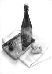 女子美術大学短期大学部デザインコース合格者作品(卓上デッサン)