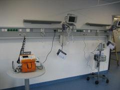 Krankenhaus Nagold - Überwachungsraum in Verbindung mit dem Linkskerzkathedermeßplatz