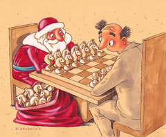 Дед Мороз и шахматы