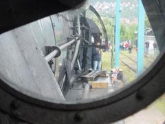 die Sicht des Lokführers aus der 03 nach vorn