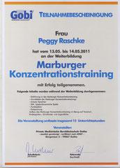 Zertifikate Physio Therapie Peggy Raschke