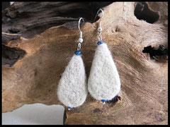 Bild 12: Ohrringe ganz anders verarbeitet, als Tropfenform und mit kleinen Perlen verziert: Ohrhaken 925er Silber. Preis 24 Euro