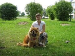 Я и Ляля. 30.07.2011г. Глубокое. Моно.