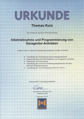 HÖRMANN Montagetraining Inbetriebnahme und Programmierung von Garagentor-Antrieben