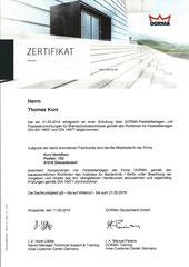 Schulung DORMA-Feststellanlagen und Feststellvorrichtungen für Brandschutzabschlüsse gemäß DIN EN 14637 und DIN 14677