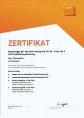 Neuerung bei der Nachrüstung DIN 18104- 1 und Teil 2  LKA Fortbildungsschulung