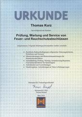 HÖRMANN  Prüfung, Wartung und Service von Feuer- und Rauchschutzabschlüssen