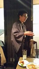 京都から参加の遠藤先輩は粋な仕事着で登場♪