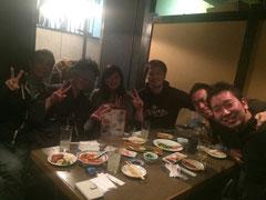 左から入江先輩、遠藤先輩、足立先輩、太田先輩、浜口先輩、山田先輩