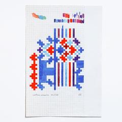 avittat-01, 2020, Skizze, Buntstift auf kariertem Papier, A4