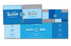 Geboortekaartje tweeling - Robbe-Mats